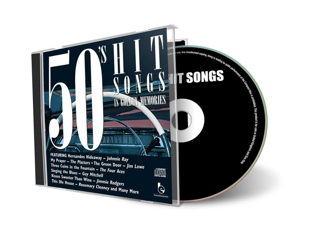 50s Hit Songs CD Cover