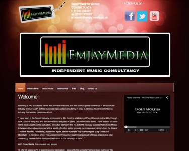 EmjayMedia – Independent Music Consultant Website