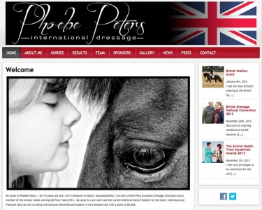 Phoebe Peters International Dressage Website