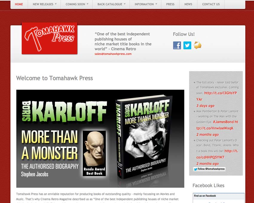 Tomahawk Press Website